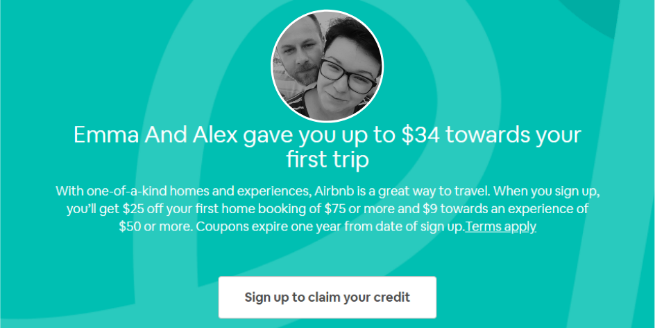 airbnb first coupon